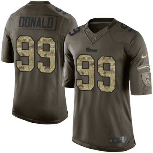 Nike Aaron Donald Los Angeles Rams Elite Green Salute to Service Jersey - Youth