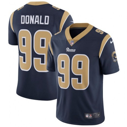Nike Aaron Donald Los Angeles Rams Limited Navy Blue Team Color Jersey - Youth