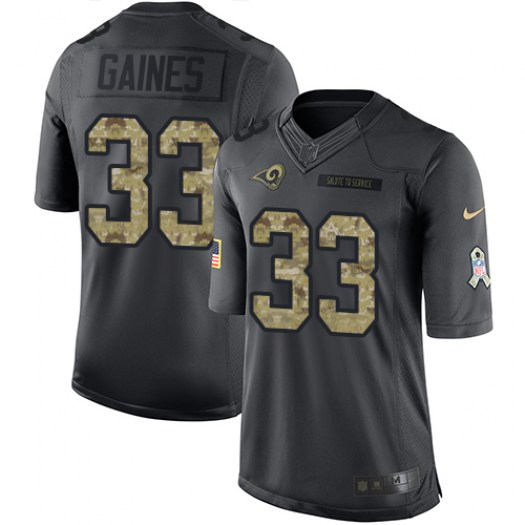 Nike E.J. Gaines Los Angeles Rams Limited Black 2016 Salute to Service Jersey - Men's