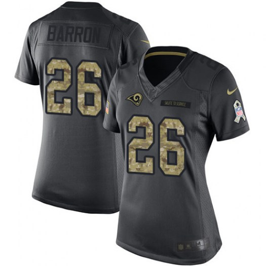 Nike Mark Barron Los Angeles Rams Limited Black 2016 Salute to Service Jersey - Women's